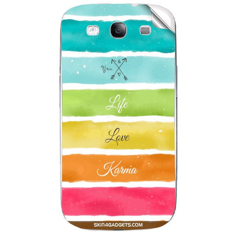 Lets Love Life For SAMSUNG GALAXY S3 (I9300) Skin