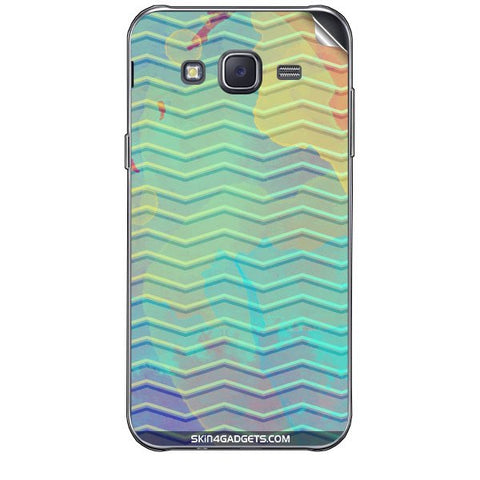Colourful Waves For SAMSUNG GALAXY J7 Skin