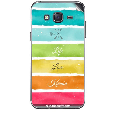 Lets Love Life For SAMSUNG GALAXY J7 Skin