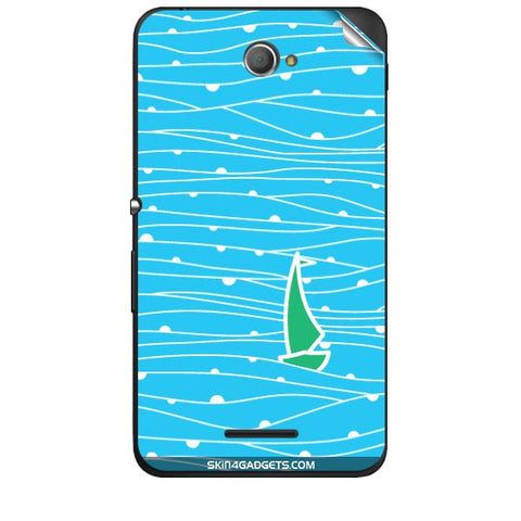 Boat Pattern For SONY XPERIA E4 Skin