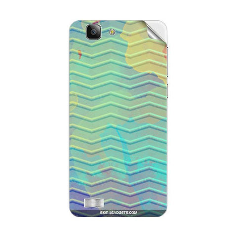 Colourful Waves For VIVO Y28 Skin