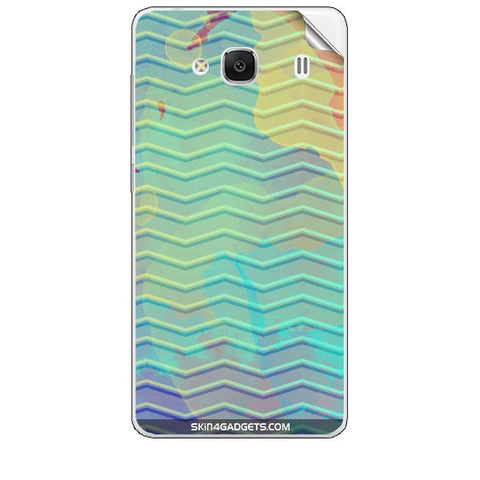 Colourful Waves For XIAOMI REDMI 2 Skin