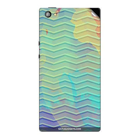 Colourful Waves For XOLO CUBE 5.0 Skin