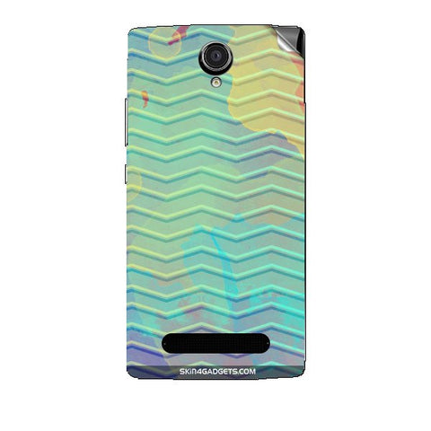 Colourful Waves For XOLO LT2000 Skin