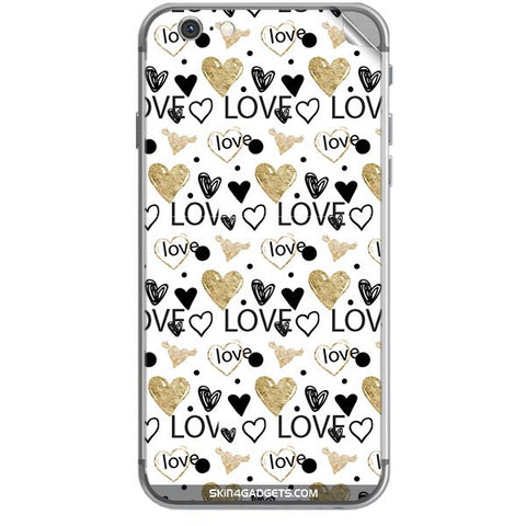 Heart and Love Doodle For APPLE IPHONE 6S Skin