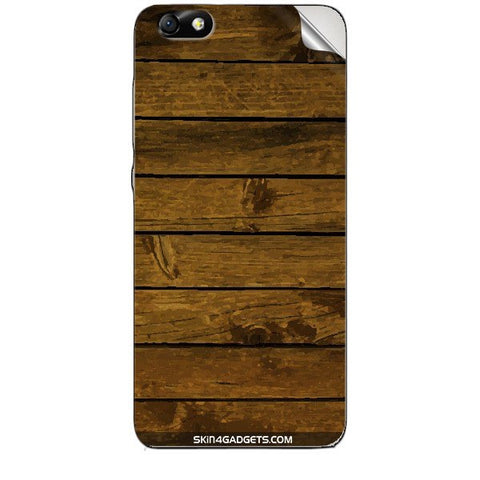 Brown Wooden Planks For HUAWEI HONOR 4X (ONLY BACK) Skin