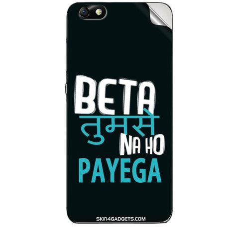 Beta tumse na ho payega For HUAWEI HONOR 4X (ONLY BACK) Skin