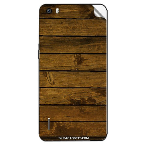Brown Wooden Planks For HUAWEI HONOR 6 PLUS Skin