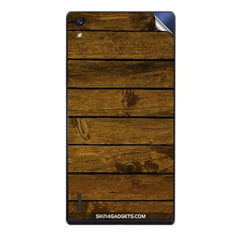 Brown Wooden Planks For HUAWEI HONOR P7 Skin