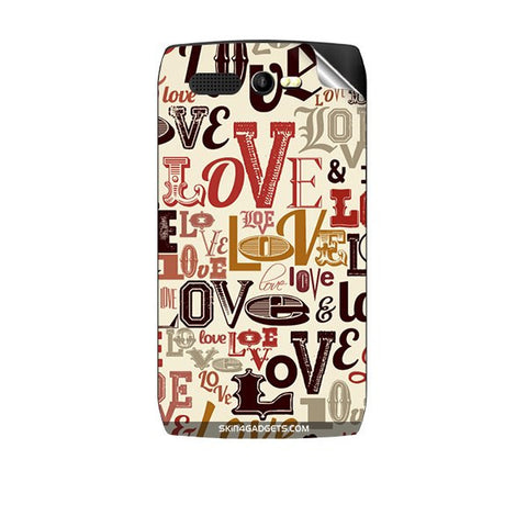 Love typography For KARBONN A1 PLUS Skin