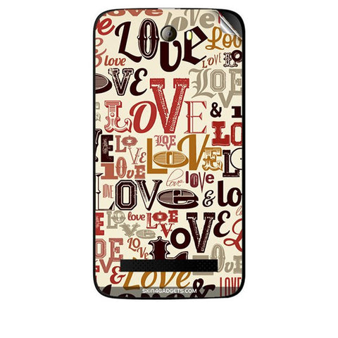 Love typography For KARBONN A21 PLUS Skin