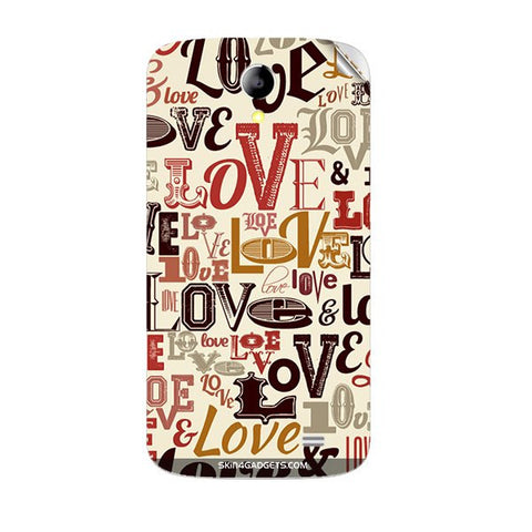 Love typography For KARBONN A25 PLUS Skin