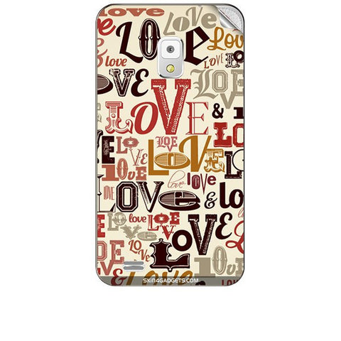 Love typography For KARBONN A5S Skin