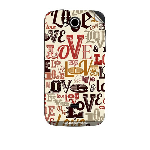 Love typography For KARBONN A7 PLUS Skin