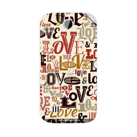 Love typography For KARBONN A1 PLUS DUPLE Skin