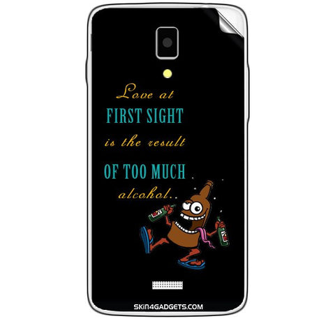 Love at first sight is the result of too much alcohol For KARBONN TITANIUM S5  Skin