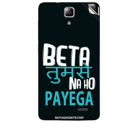 Beta tumse na ho payega For LENOVO A536 Skin