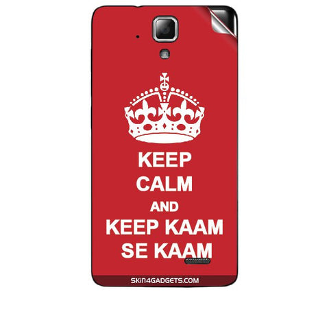 Keep Calm & Keep Kaam Se Kaam For LENOVO A536 Skin