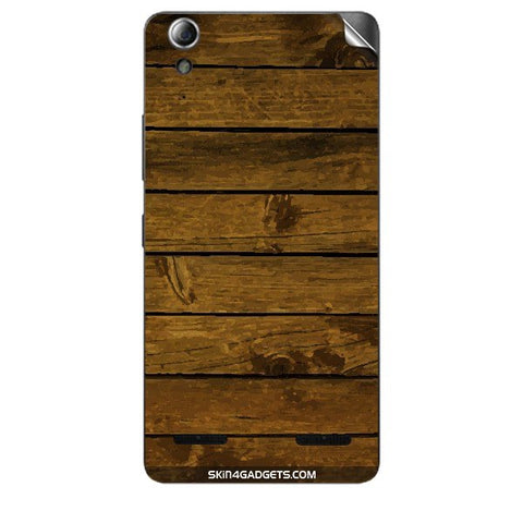Brown Wooden Planks For LENOVO A6000 PLUS Skin