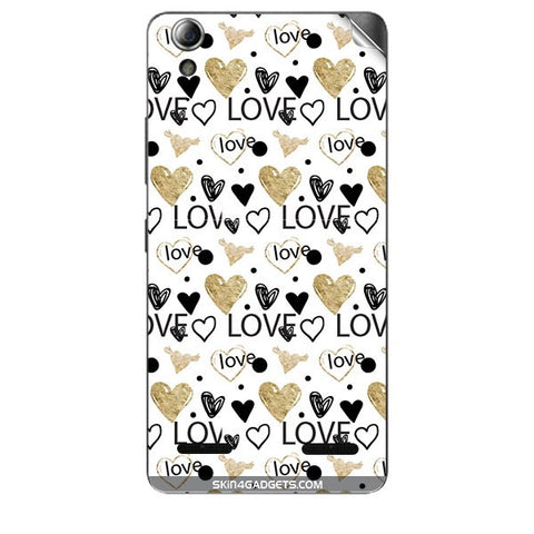 Heart and Love Doodle For LENOVO A6000 PLUS Skin