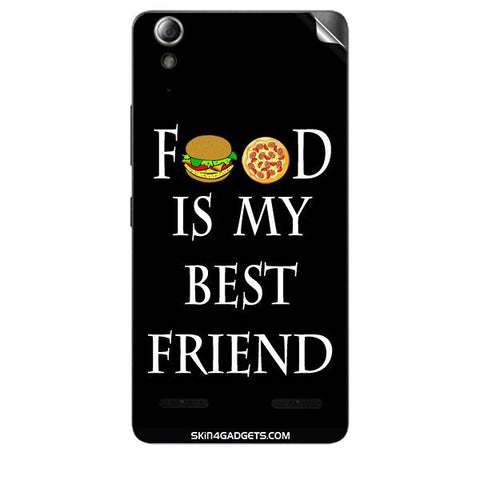 Food is my best friend For LENOVO A6000 PLUS Skin