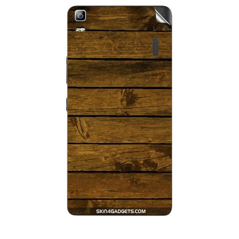 Brown Wooden Planks For LENOVO A7000 Skin