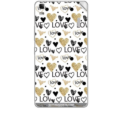 Heart and Love Doodle For LENOVO K3 NOTE Skin