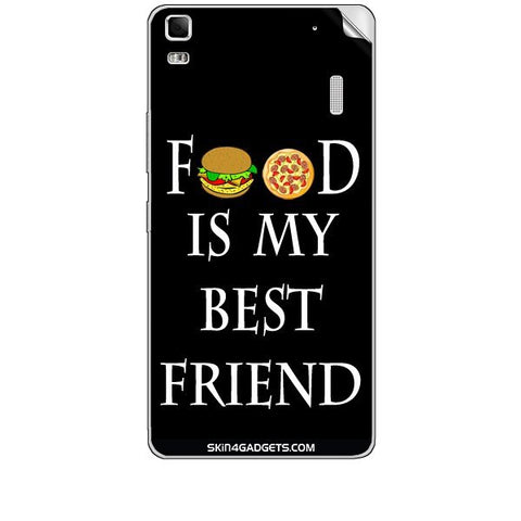 Food is my best friend For LENOVO K3 NOTE Skin
