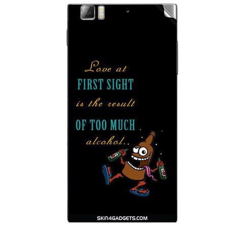 Love at first sight is the result of too much alcohol For LENOVO K900 Skin
