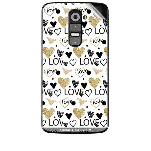 Heart and Love Doodle For LG G2 Skin