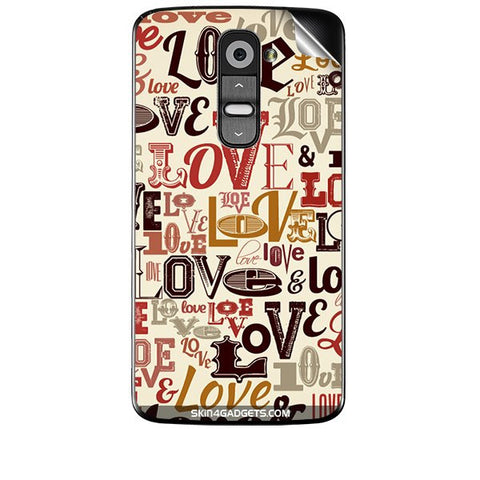 Love typography For LG G2 Skin