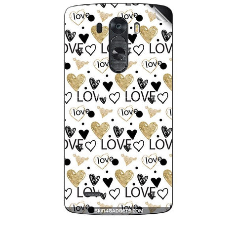 Heart and Love Doodle For LG G3 (D851,855,830) Skin