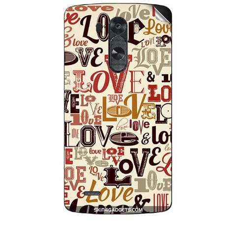 Love typography For LG G3 (D851,855,830) Skin