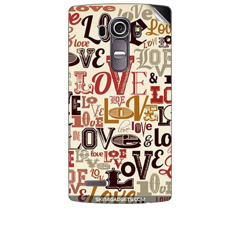 Love typography For LG G4 Skin