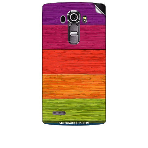 Multicolor Wooden Planks For LG G4 Skin