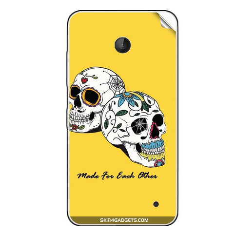 Made for each other (Skulls & Roses) For NOKIA LUMIA 630 Skin