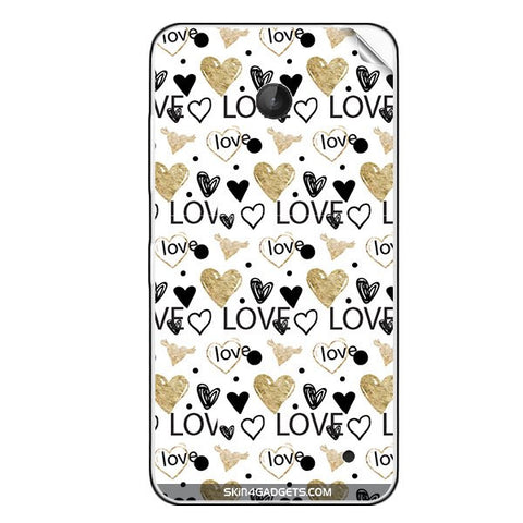 Heart and Love Doodle For NOKIA LUMIA 630 Skin