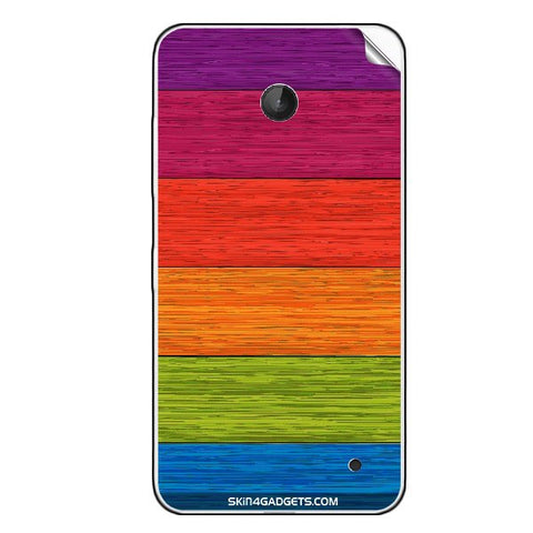 Multicolor Wooden Planks For NOKIA LUMIA 630 Skin