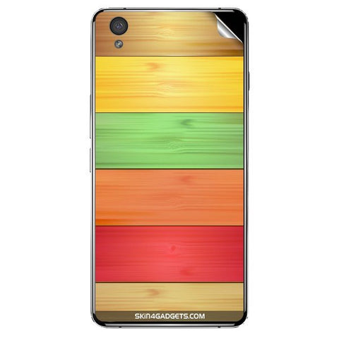 Multi Colored Wooden Planks -1 For ONE PLUS X Skin