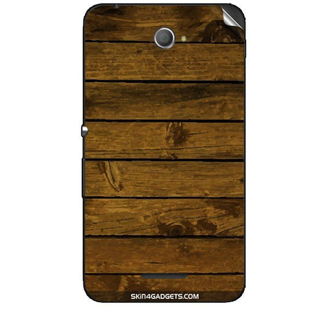 Brown Wooden Planks For SONY XPERIA E4 Duo Skin