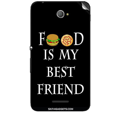 Food is my best friend For SONY XPERIA E4 Duo Skin
