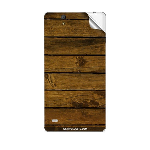 Brown Wooden Planks For SONY XPERIA C4 Skin