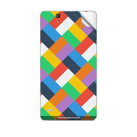 Colorful Geomatric pattern For SONY XPERIA C4 Skin