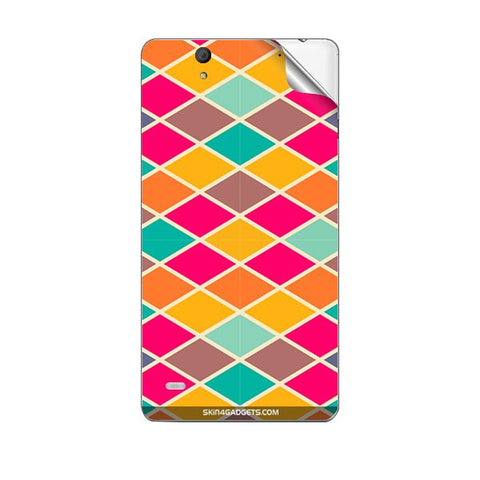 Colorful Rhombus Grid For SONY XPERIA C4 Skin