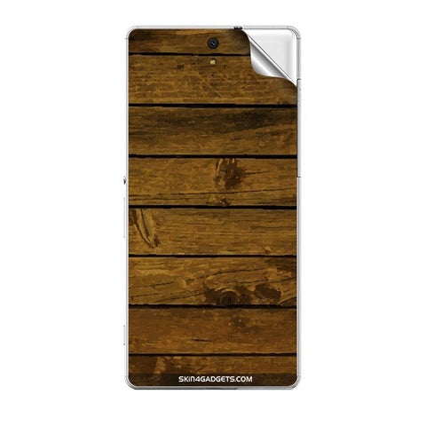 Brown Wooden Planks For SONY XPERIA C5 ULTRA Skin