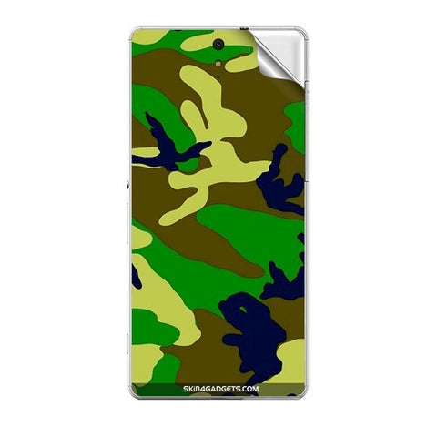 Camouflage - Green For SONY XPERIA C5 ULTRA Skin