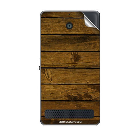 Brown Wooden Planks For SONY XPERIA E1 Skin