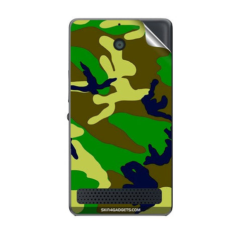 Camouflage - Green For SONY XPERIA E1 Skin