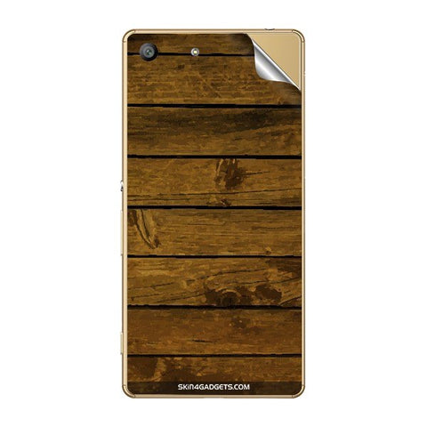 Brown Wooden Planks For SONY XPERIA M5 Skin
