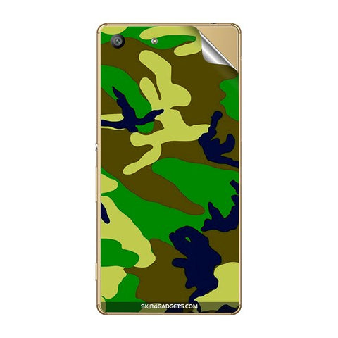 Camouflage - Green For SONY XPERIA M5 Skin